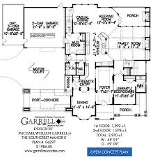 7 Bedroom Floor Plans Southcrest Manor C House Plan House Plans By Garrell Associates