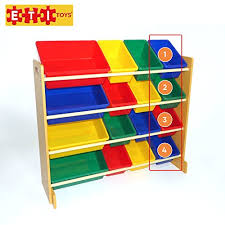 ETI Toys  Extra Capacity Bins Organizer And Storage Shelves For - Non toxic childrens bedroom furniture