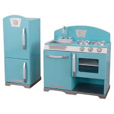 cuisine kidkraft vintage kidkraft 2 retro kitchen and refrigerator set reviews wayfair