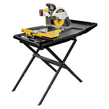 dewalt d24000s heavy duty 10 inch wet tile saw with stand power