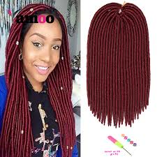 Curly Hair Extensions For Braiding by 7 Piece 18inch 120g Burgundy Crochet Braids Hair Extensions Curly