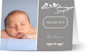 personalised baby thank you cards w photo 48hr delivery