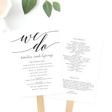 wedding day program template wedding ceremony program template