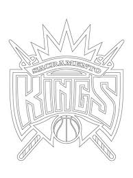 nba players coloring pages sacramento kings logo nba coloring pages sports coloring pages