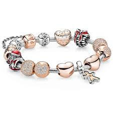 bracelet charm gold silver images Pandora cb1047 rose gold hearts gingerbread man cozy christmas jpg