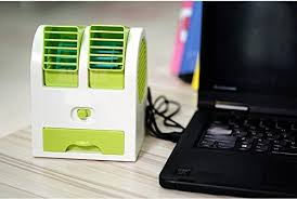 Desk Top Air Conditioner Mini Small Fan Cooling Portable Desktop Dual Bladeless Air