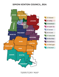 Baltimore City Council District Map Districts Simon Kenton Council Boy Scouts Of America