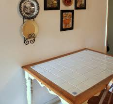 Cottage Table Makeover Tile Top Tables Tile Tables And House - Kitchen table top