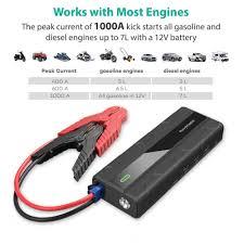 amazon com car jump starter ravpower 1000a peak current quick