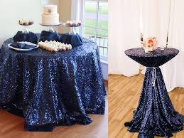 navy blue sequin tablecloth 132 inch round navy blue wedding