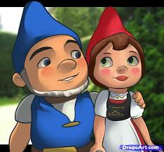 draw gnomeo juliet step step movies pop culture