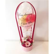 balloon in a box warmest flowers hot air balloon 05