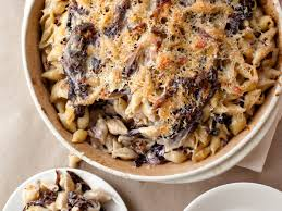 three cheese baked pasta with porcini and radicchio recipe grace