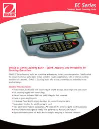 Ohaus Bench Scale The Ohaus Ec Counting Scale Ec 3 Ohaus Pdf Catalogue