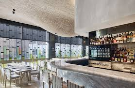 brick bulges embellish ceiling of fucina restaurant by andy martin