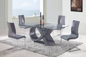 luxury dining room furniture high end rectangular in wood clear glass top leather modern dining