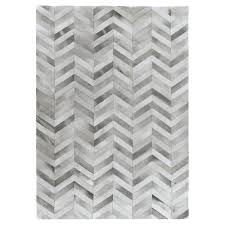 Modern Grey Rug Exquisite Rugs Hide Modern Classic Chevron Pattern Grey
