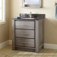 30 In Bathroom Vanity 30 Venica Teak Vanity For Rectangular Undermount Sink Gray Wash