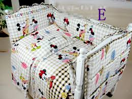 Mickey And Minnie Crib Bedding Minnie Mouse Crib Bedding Baby Cotton Set Free Shipping Baby