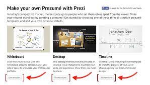 creating a prezumé prezi classic support