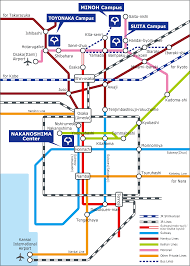 Osaka Subway Map by Venue Isums2017