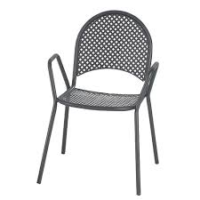 Patio Chairs Metal Waymar Stackable Metal Restaurant Patio Chair 17 Seat Height