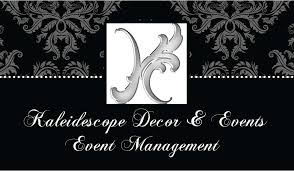Event Business Cards Kaleidescope Decor And Events Event Management Business Card