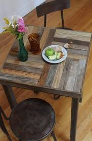 Reclaimed Wood Bistro Table Unique Furniture Nature Inspired Natural Decor