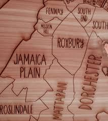 Boston Map boston wood map art art pieces neighborwoods scoutmob