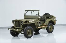 willys army jeep 1941 jeep willys mb military motorcar classics exotic and