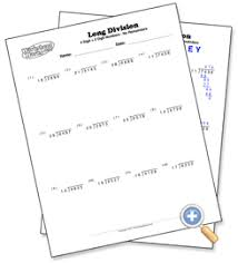 2 digit with 4 digit numbers long division worksheetworks com
