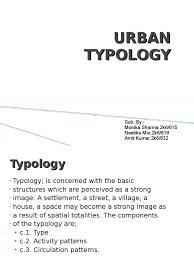 7 urban typology street urban area