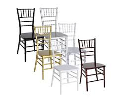 rent chiavari chairs panelist table bayside event rentals