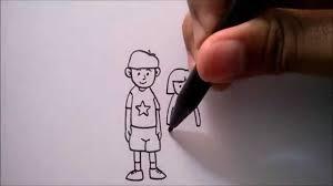 tutorial menggambar orang dengan pensil cara menggambar orang dari huruf u how to draw human from a