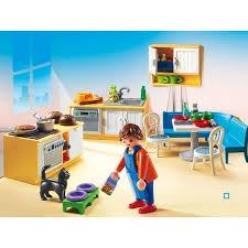 playmobil cuisine 5329 5336 cuisine avec coin repas playmobil pas cher à prix auchan