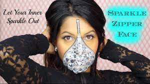 easy face makeup for halloween sparkle zipper face easy halloween costume makeup jana kup