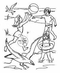 free coloring pages beach coloring page for kids seasons funny mermaid a funny coloring