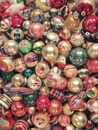 vintage mercury glass ornaments satin finish magenta