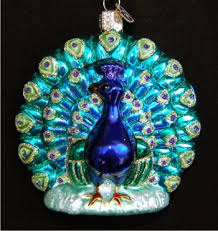 proud peacock glass ornament 650 glass ornaments world