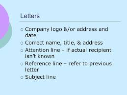 letter with attention line and subject line technical communications basics lab reports u0026 more metro writing
