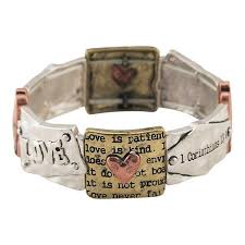 christian bracelet christian bracelet 1 cor 13 is patient the lord inc