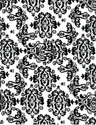 black and white wrapping paper gift wrap 24 x 100 roll black on white damask