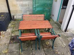 cast iron wood garden furniture set in tewkesbury
