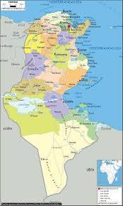 tunisia map tunisia