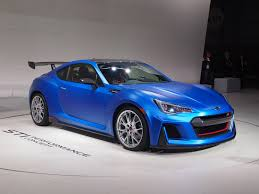 green subaru subaru brz by sti 300bhp coupe muscles into new york by car magazine