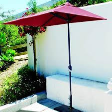Patio Half Umbrella 3 5 X 7 Foot Half Wall Umbrella Model 772ab Commercial Grade