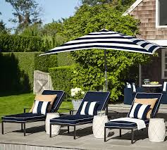 Blue And White Striped Patio Umbrella Rectangular Market Umbrella Stripe Pottery Barn
