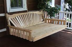 cedar fanback swing bed by dutchcrafters amish furniture
