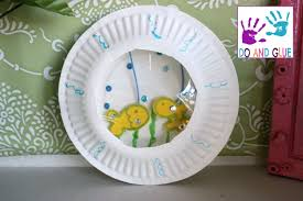 kid craft how to make a paper plate aquarium youtube