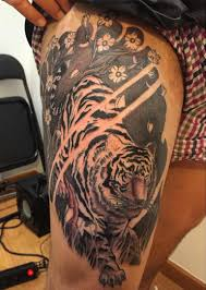 thigh tiger yeahtattoos com tiger yant thigh
